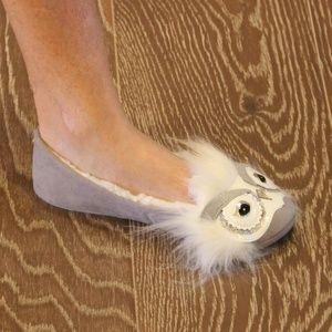 New Kate Spade Samantha Owl Slippers Flats